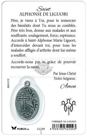 Endos de la Carte des Archanges avec Prière