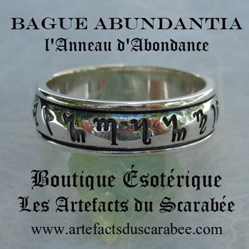 Bague Abundantia - L'Énergie d'Abondance *Co-Création Unique & Authentique des Artefacts du Scarabée