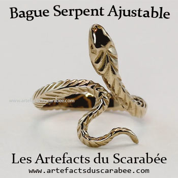 Bague Serpent ajustable en Bronze Massif 100%