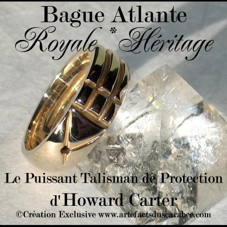 haute qualité handicaps structurels nouvelles promotions B- BAGUE ATLANTE ROYALE *Héritage - Bronze Massif 100%[Ba-RoyBr]
