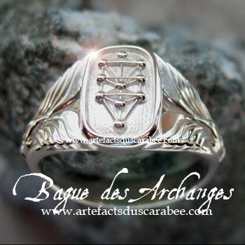 Bague des Archanges (Modèle Femme) - Argent Sterling 925 **Création Unique Les Artefacts du Scarabée