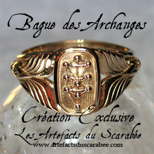 B- BAGUE des ARCHANGES (Homme) -Protection-Guidance (Bronze)