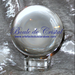 A- Boule de Cristal de Plomb 050mm + Support (Divination)