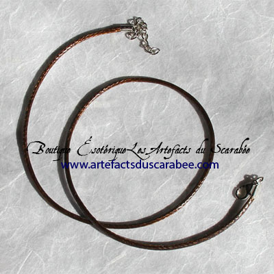 z- Collier de Cordon ciré *Café (2mm)