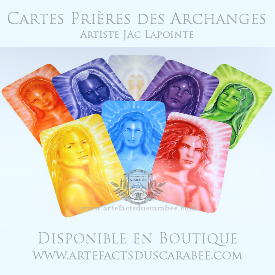 Collection des Cartes Prières des Archanges (Ensemble 8 Cartes)