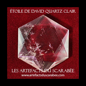 Étoile de David (Quartz) Bouclier d'Abraham (Protection) 20-25mm