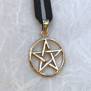 Pentacle Pentagramme - 20mm x 30mm (Bronze)