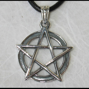 Pentacle Pentagramme (Talisman-Protection) - 28x35mm (Arg 925)
