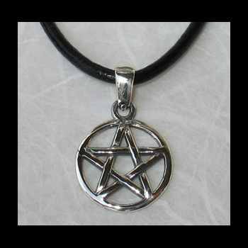 Pentacle Pentagramme (Protection-5 Éléments) - 15x23mm (Arg 925)