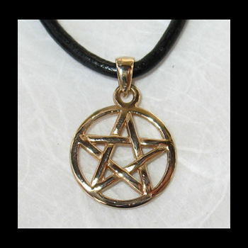 Pentacle Pentagramme - 15mm x 23mm (Bronze)
