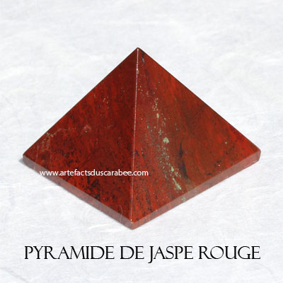 Pyramide de Jaspe Rouge (AA) - Enracinement & Transformation