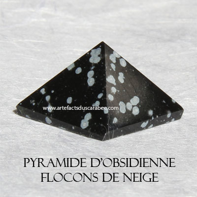 Pyramide d'Obsidienne Flocons de Neige (A) -Centrage & Guidance