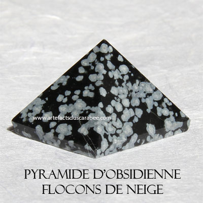 Pyramide d'Obsidienne Flocons de Neige (AA) -Centrage & Guidance